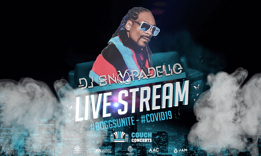 Snoopadelic in the (da) pandemic – Snoop Dogg live-streaming DJ show via TicketCo TV to support the fight against Covid-19